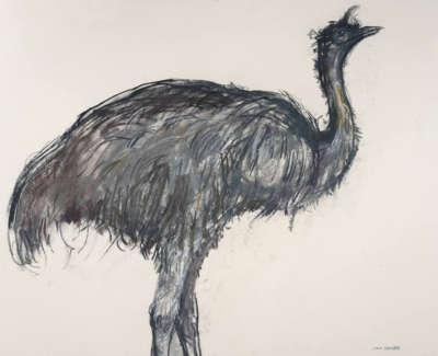 Scouller  L  Emu Pastelonpaper 55X71