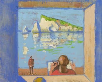 19 Morrocco  L  Sketchingthe Rock Baziluzzo Oilonboard 38X38 4100