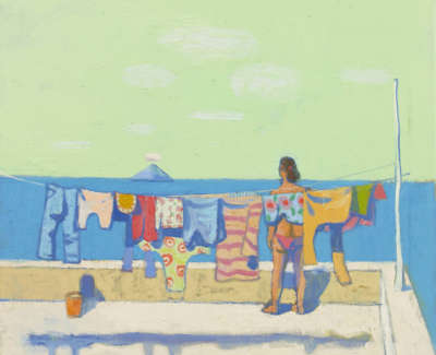25 Morrocco  L  Washing Day Panara Oil On Canvas 70 X75 8250