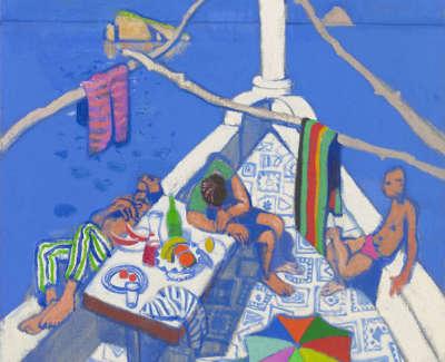 41 Morrocco  L  Lunchtime Panarea Oiloncanvas85X75  Poa
