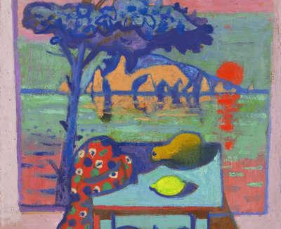 7 Morrocco  L  Sicily Viewfroma Window Oilonboard 33X55 3850