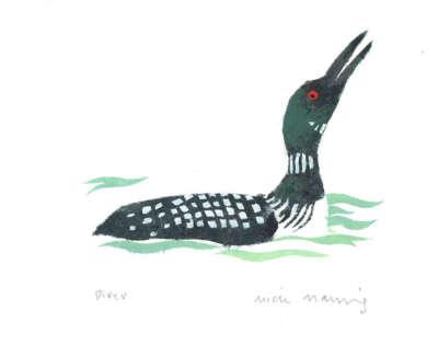Manning  M  Diver( Oup) Pochoir 31X41