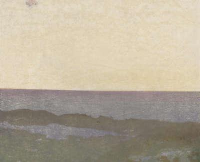 Furneaux P Lewis Early Moon Mokuhanga 33 5X42