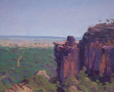Rob M Escarpment Grampian Ranges Australia Oilonlinen 28X42
