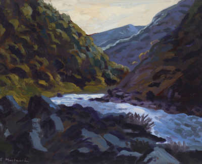 Rob M The Upper Tumut River Evening Oilonwoodpanel 18X25