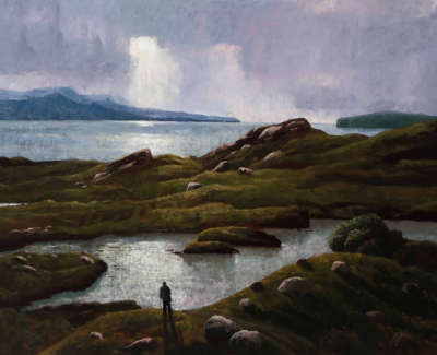 Maclaurin  R  The Brochel Loch, Evening Oilonlinen 74X100 4,000