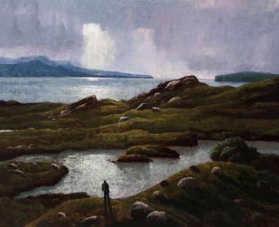 Maclaurin  R  The Brochel Loch, Evening Oilonlinen 74X100 4,000