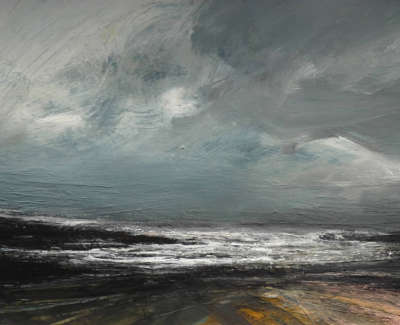Brownlee  R  Blustery Winter Day Mixedmediaonboard 36X50  Sold
