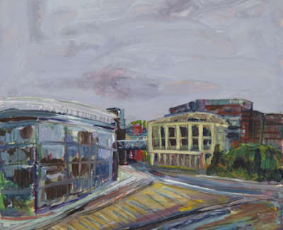 Nicol  Ruth  Leith Walk Robert Garioch Acryliconcanvas 105X105