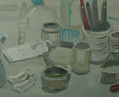 Painters Table Oilonboard 56X28Cm