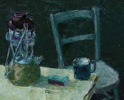 Still Lifewith Lamp Oilonboard 45X38Cm