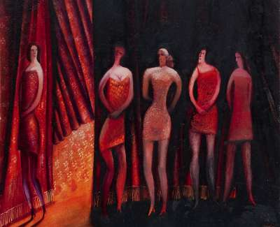 Rodger  W  Ladies In Waiting Oilonboard
