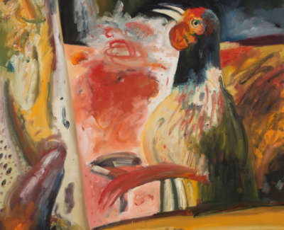 Bellany  J  Capercaille Sings Oiloncanvas1984 172X152