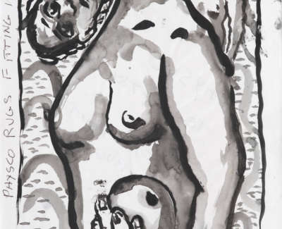 Campbell  S 1953 07  Physco Rugs Fitting In  Inkandwash 19 5X29