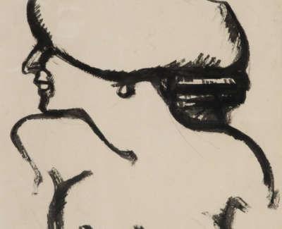 John  Duncan  Fergusson 1874 1961  Torsede Femme  Brushandinkonpaper C1910 1911 23X17  Ewan  Mundy  Fine  Art  Ltd Glasgow