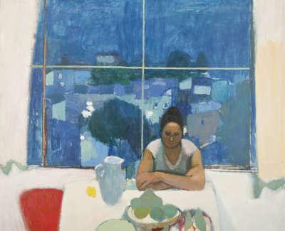 Morrocco  A  Studio Window Anticolli 1963 Oilonboard 163X163